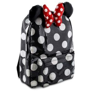 Disney Minnie Mouse Sequin Polkadot Bow Backpack